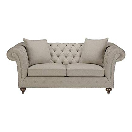 "Mansfield Beige Linen Sofa Chairs For Recent Amazon: Ethan Allen Mansfield Sofa, 77"" Sofa, Palmer Pearl (View 5 of 20)"