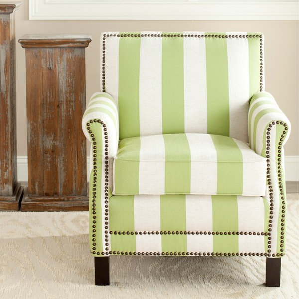 Mansfield Beige Linen Sofa Chairs Intended For Popular Shop Safavieh Mansfield Green Club Chair – Free Shipping Today (View 11 of 20)