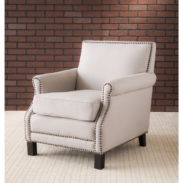 Mansfield Beige Linen Sofa Chairs Regarding Current Shop Safavieh Mansfield Beige Club Chair – Free Shipping Today (View 4 of 20)