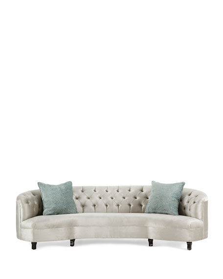 "Mansfield Beige Linen Sofa Chairs Regarding Favorite Haute House Mansfield Monroe Tufted Sofa 114"" (View 18 of 20)"
