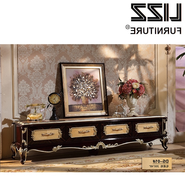 Marble Tv Stand Living Room Furniture Set Royal Furniture Antique Throughout Well Known Antique Style Tv Stands (View 14 of 20)