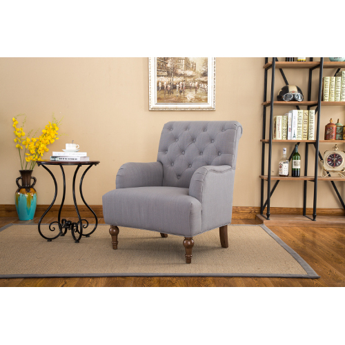 Mazin Furniture Aidan Accent Chair – Grey (1280gy) Pertaining To Most Recently Released Aidan Ii Sofa Chairs (View 10 of 20)