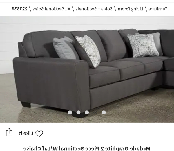 Mcdade Graphite Sofa Chairs Throughout Most Up To Date New And Used Sectional Couches For Sale In Brea, Ca – Offerup (View 11 of 20)