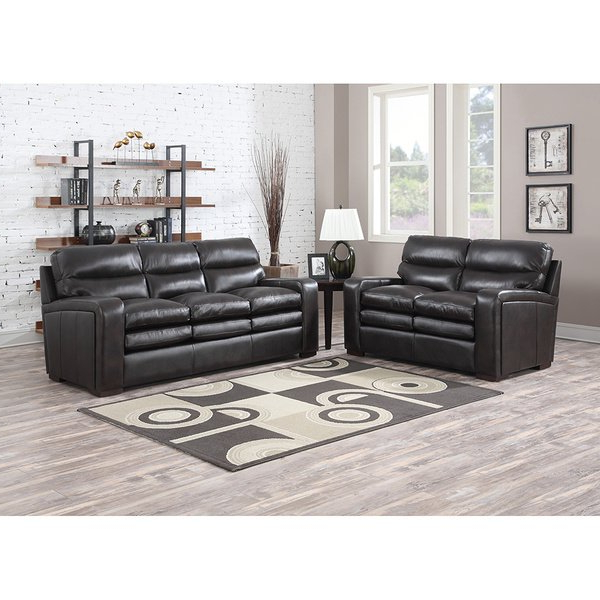 Mercer Foam Oversized Sofa Chairs Intended For 2017 Mercer Dark Brown Italian Leather Sofa And Leather Loveseat – Free (View 8 of 20)