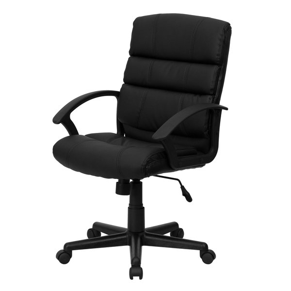 Mercer Foam Swivel Chairs With Well Known Deven Black Leather Swivel Adjustable Office Chair – Free Shipping (View 11 of 20)