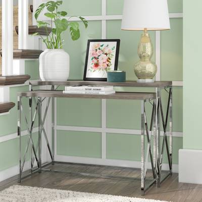 Mercury Row Balog 2 Piece Console Table Set & Reviews (View 19 of 20)