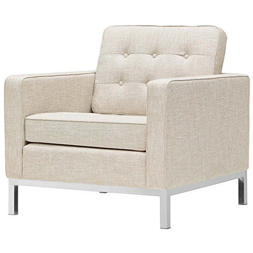 Midcentury Modern Modway Eei 2050 Bei Loft Upholstered Fabric Mid In Recent Loft Arm Sofa Chairs (View 3 of 20)