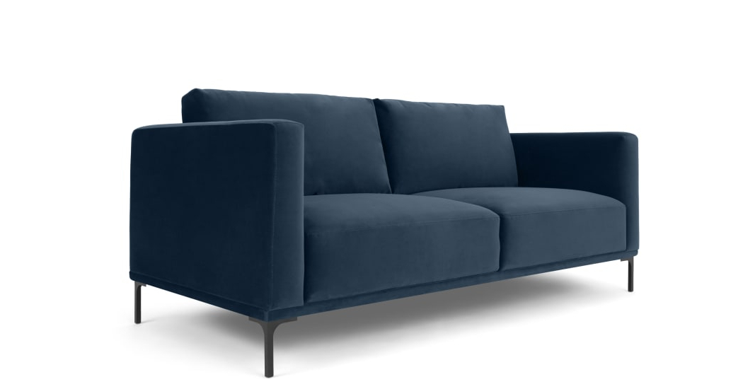 Milo Sofa Chairs Throughout Most Popular Milo Large 2 Seater Sofa, Sapphire Blue Velvet (View 7 of 20)