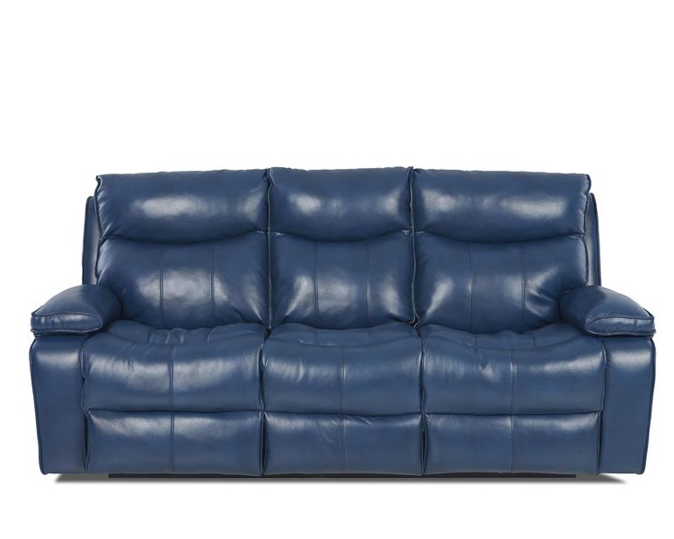 Moana Blue Leather Power Reclining Sofa Chairs With Usb Inside Recent Wilson Contemporary Power Reclining Sofaklaussner At G (View 3 of 20)