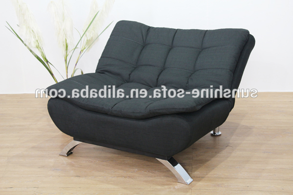 Modern Fabric Single Sofa Bed Chair – Buy Modern Fabric Single Sofa Regarding Most Popular Single Chair Sofa Bed (View 2 of 20)