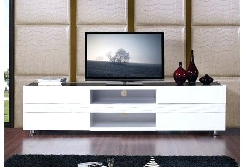 Modern White Tv Stands B Modern Publisher High Gloss White Stand For 2018 B Modern Tv Stands (View 12 of 20)