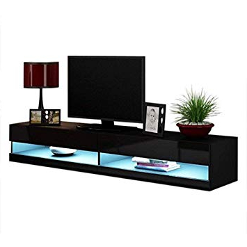 Most Current 80 Inch Tv Stands With Regard To Amazon: Concept Muebles 80 Inch Seattle High Gloss Led Tv Stand (View 12 of 20)