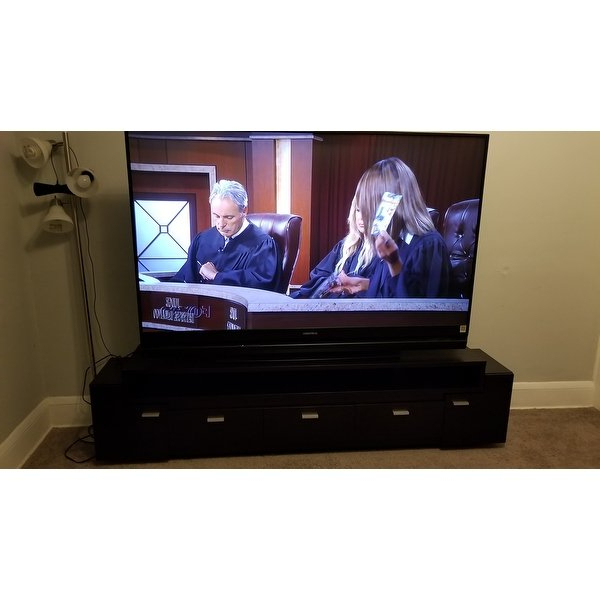 Most Current 84 Inch Tv Stands With Regard To Shop Porch & Den Hubbard 84 Inch Tiered Tv Stand – On Sale – Free (View 11 of 20)