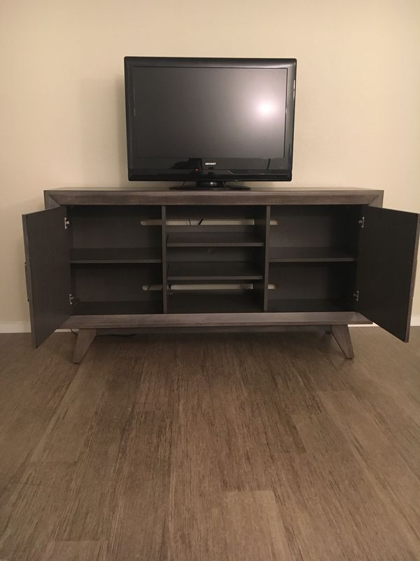 Most Current Abbott Driftwood 60 Inch Tv Stand, 5 Months Old! For Sale In San Pertaining To Abbott Driftwood 60 Inch Tv Stands (View 11 of 20)