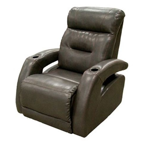 Most Current Rogan Leather Cafe Latte Swivel Glider Recliners Within Southern Motion Power Recliner With Silverstand (View 7 of 20)