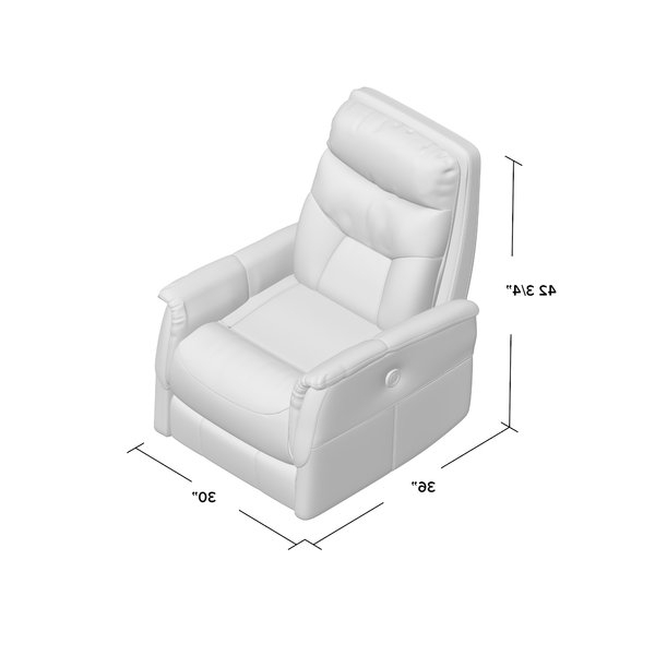 Most Current Three Posts Haliburton Power Glider Swivel Recliner & Reviews (View 10 of 20)