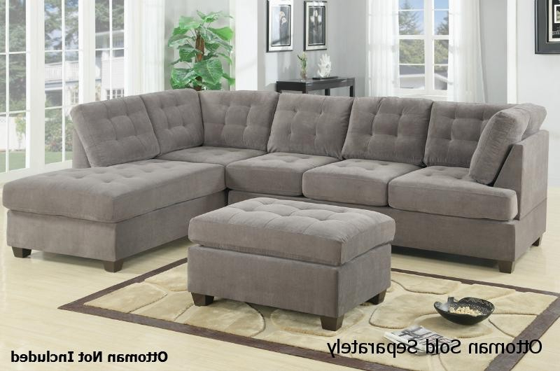 Most Popular Fabric Sectional Aquarius Dark Grey 2 Piece W Laf Chaise Living Intended For Aquarius Dark Grey Sofa Chairs (View 14 of 20)
