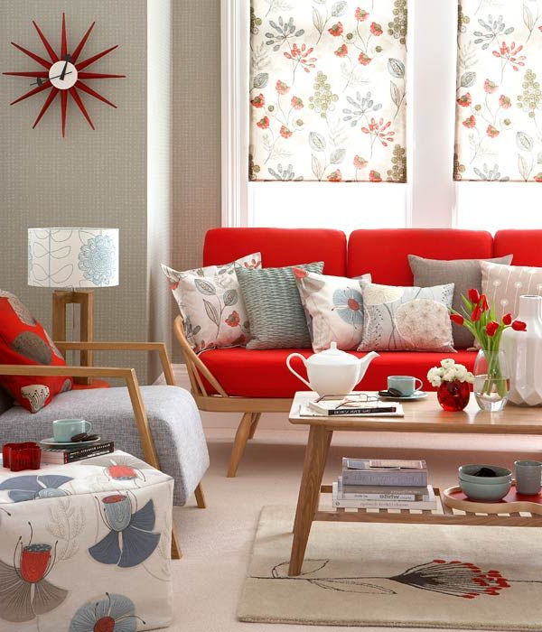 Most Popular Floral Design In Retro Living Room (View 9 of 20)