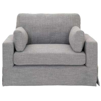 Most Popular Gordon Arm Sofa Chairs Throughout Gray – Fabric – Chairs – Living Room Furniture – The Home Depot (View 15 of 20)