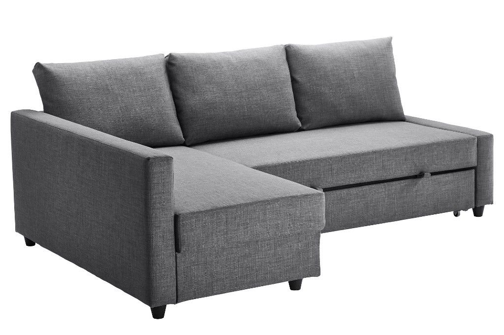 Most Popular Ikea Friheten Corner Sofa / Sofa Bed For Sale – Good Condition With Regard To London Dark Grey Sofa Chairs (View 15 of 20)