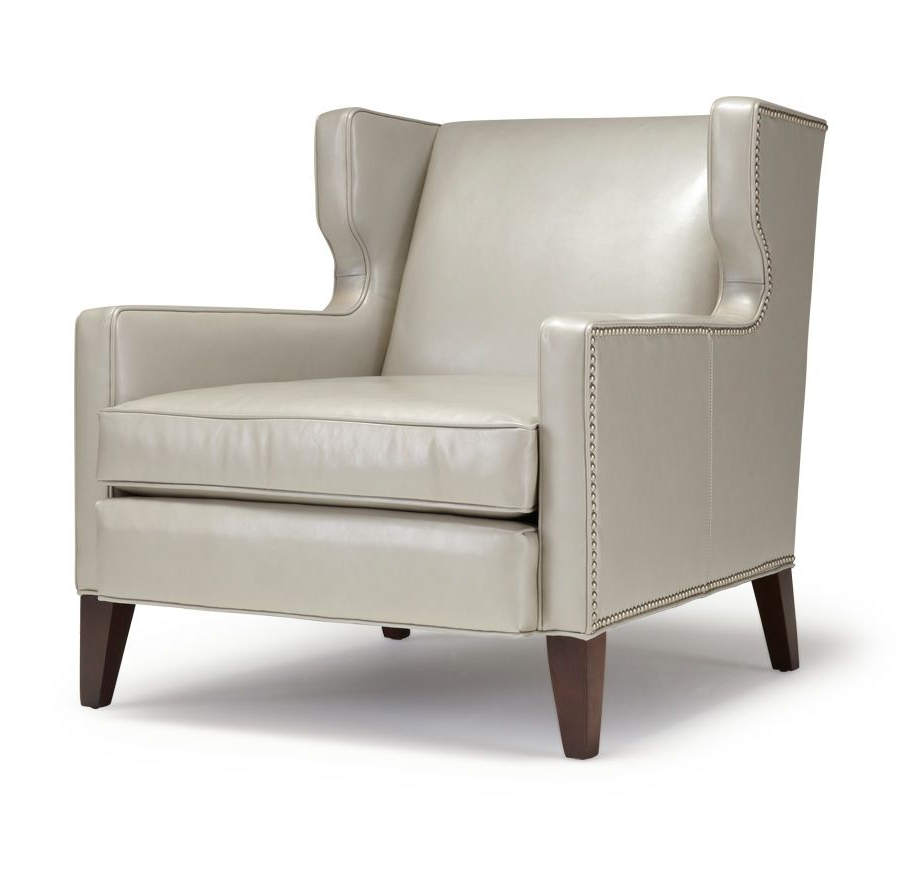 Most Popular Mitchell Arm Sofa Chairs With Regard To Mitchell Gold + Bob Williams Marsden Wing Chair In Leather (View 12 of 20)