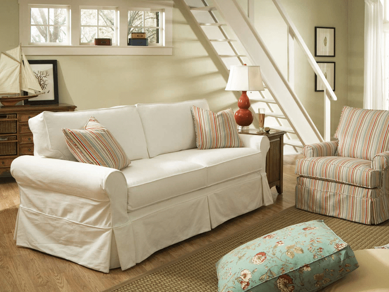 Most Popular Slipcovers For Chairs And Sofas In Slipcovered Furniture – Many Sizes, Many Fabrics (View 10 of 20)
