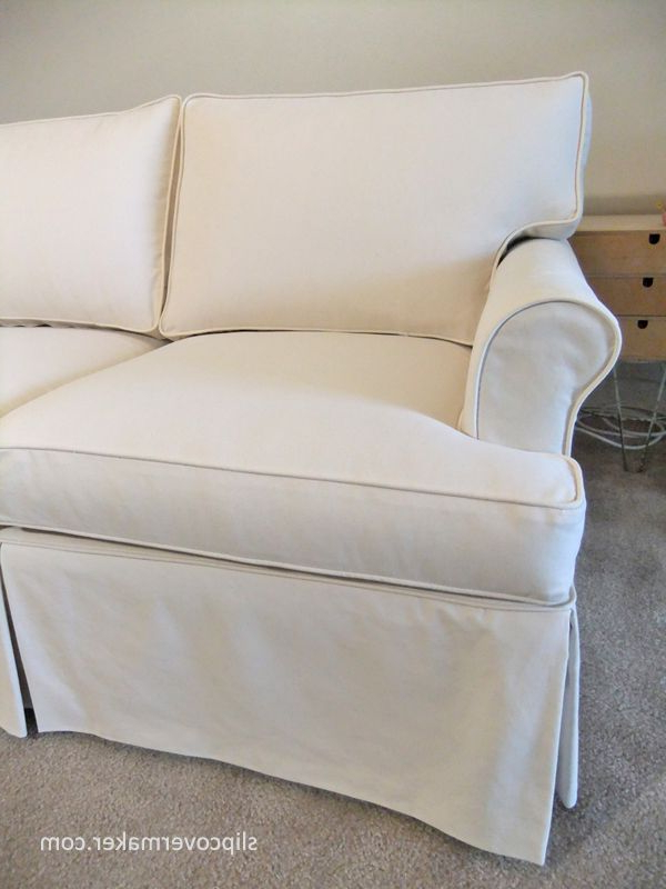 Most Popular Slipcovers For Chairs And Sofas Regarding Custom Slipcover With A Tailored Fit For 15 Year Old Ethan Allen (View 11 of 20)