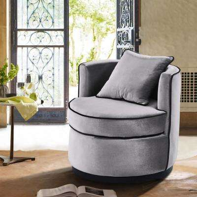 Most Popular Swivel – Accent Chairs – Chairs – The Home Depot Inside Katrina Grey Swivel Glider Chairs (View 19 of 20)