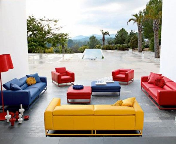 Most Popular The Red Couch And Chairs, Blue Couch, And Yellow Couch Give This With Red Sofas And Chairs (View 10 of 20)