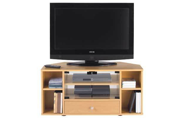 Most Popular Tv Stand Corner Tv Entertainment Unit Beech Effect For Sale In Within Beech Tv Stands (View 12 of 20)