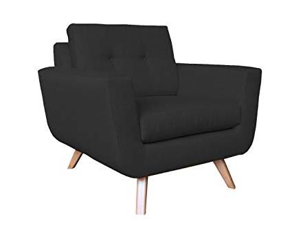 Most Recent Amazon: Poshbin Callie Mid Century Modern Chair, Black: Kitchen Regarding Callie Sofa Chairs (View 10 of 20)