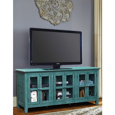 Most Recent Annabelle Blue 70 Inch Tv Stands With Regard To Annabelle Blue 70 Inch Tv Stand Living Spaces Unusual Teal Tv Ideal (View 11 of 20)