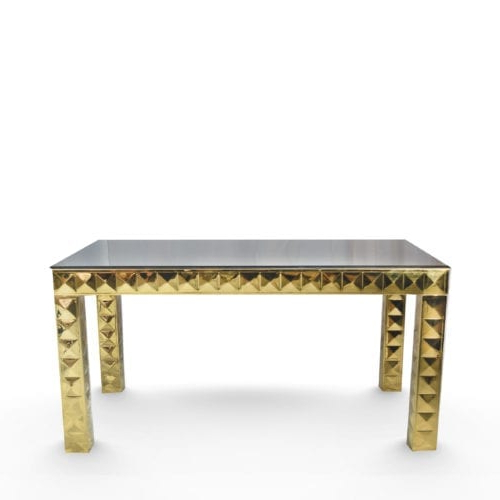 Most Recent Archive Grey Console Tables Regarding Console Tables Archives – Glam Party Rentals (View 15 of 20)