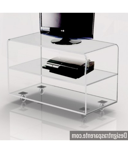 Most Recent Clear Acrylic Tv Stand – Shopping Online – Designtrasparente Intended For Acrylic Tv Stands (View 8 of 20)