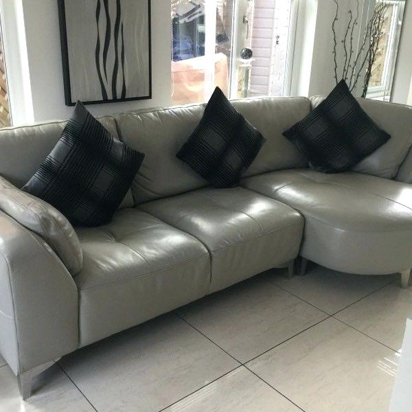 Most Recent Dove Grey Leather Sofa – Hotelessemanasanta Regarding Caressa Leather Dove Grey Sofa Chairs (View 17 of 20)