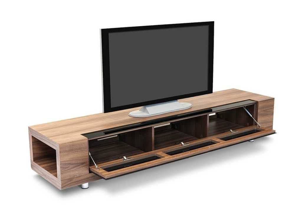 Most Recent Furniture: Minimalist Wooden Modern Tv Stand Featuring 3 Doors Regarding B Modern Tv Stands (View 13 of 20)