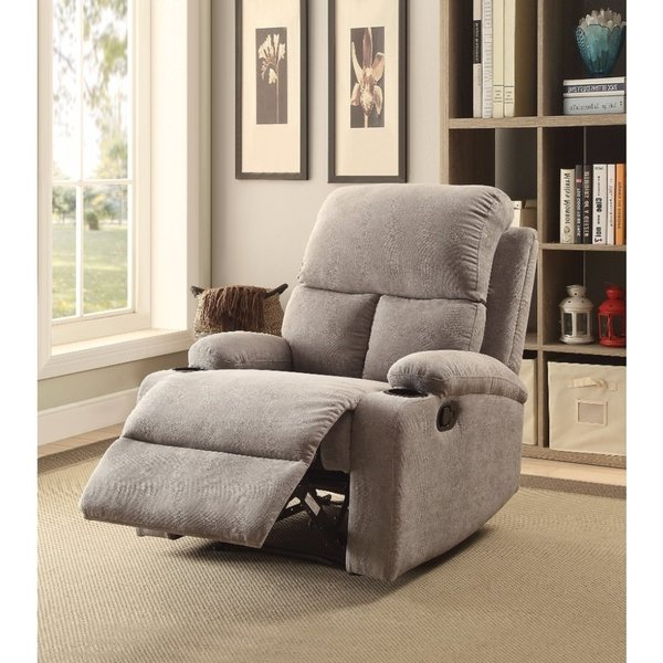 Most Recent Gannon Linen Power Swivel Recliners Intended For Shop Rosia Homely Recliner , Gray Linen – Free Shipping Today (View 8 of 20)