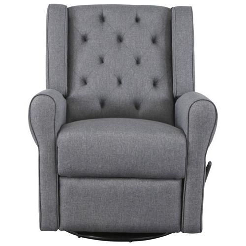 Most Recent Kidiway Helen Swivel Glider – Charcoal Grey : Glider Chairs With Charcoal Swivel Chairs (View 8 of 20)
