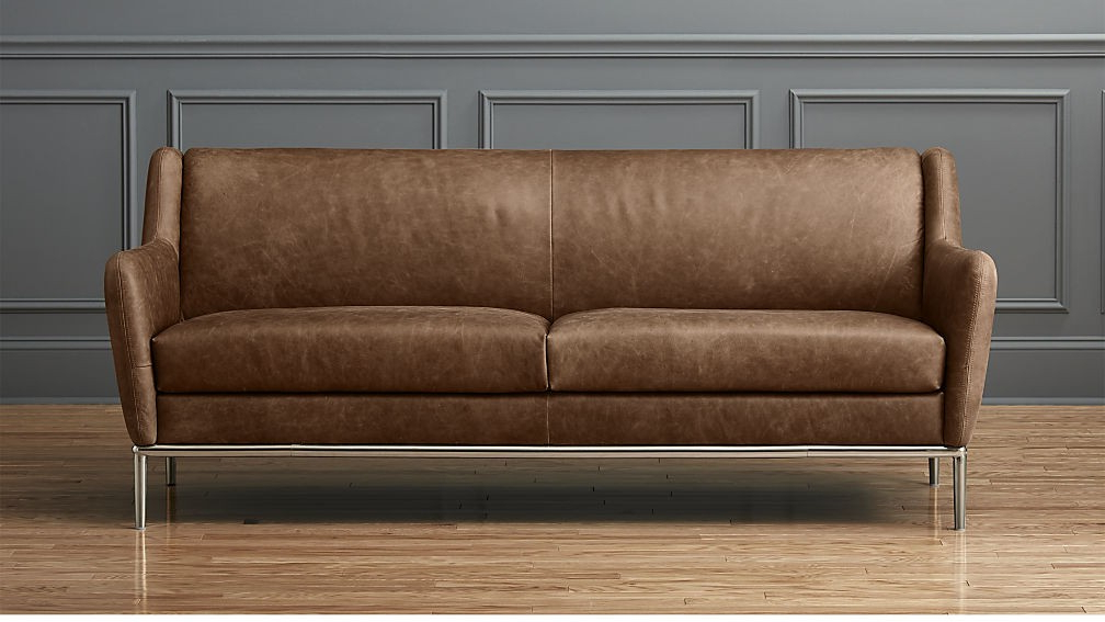 Most Recent Leather Sofa Mansfield 86 Inch Cocoa Living Spaces – Govcampus (View 15 of 20)