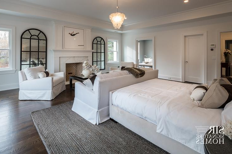Most Recent Master Bedroom Sofa Facing Fireplace – Transitional – Bedroom Inside Bedroom Sofa Chairs (View 17 of 20)