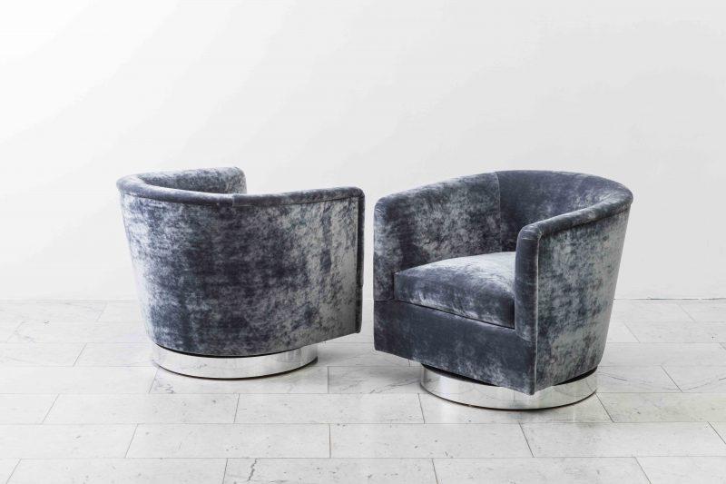 Most Recent Milo Baughman, Pair Of Dark Grey Swivel Chairs, Usa, 1970S – Todd In Dark Grey Swivel Chairs (View 12 of 20)