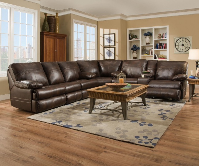 Most Recent Rogan Leather Cafe Latte Swivel Glider Recliners Pertaining To Furniture: Surprising Simmons Recliners For Contemporary Living Room (View 13 of 20)