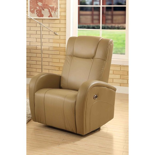 Most Recent Shop Easy Living Swiss Leather Swivel Power Glider Recliner With Usb In Gannon Linen Power Swivel Recliners (View 9 of 20)
