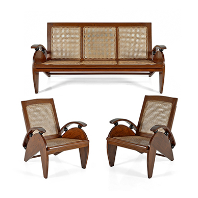 Most Recent The Design Sale  Apr 18 19, 2017  Lot 7  Art Deco Sofa Set Inside Art Deco Sofa And Chairs (View 13 of 20)