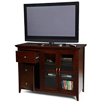 Most Recently Released Abbot 60 Inch Tv Stands Intended For Amazon: Southern Enterprises Apothecary Console/tv Stand – Brown (View 15 of 20)