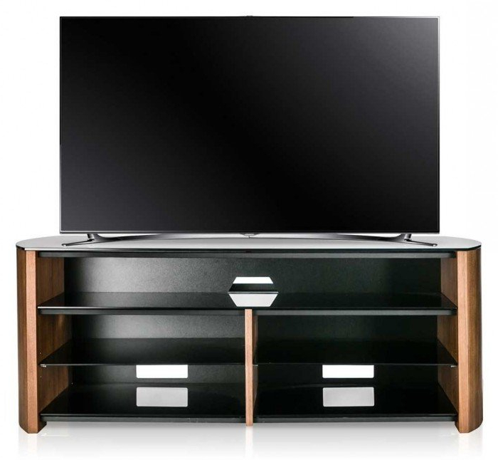 Most Recently Released Alphason Tv Cabinets Regarding Alphason Finewoods Walnut Soundbar Ready Tv Stand – Fw1350Sb W (View 9 of 20)