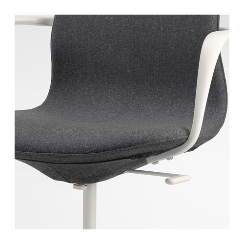 Most Recently Released Dark Grey Swivel Chairs Throughout Långfjäll Swivel Chair Gunnared Dark Grey/white – Ikea (View 14 of 20)