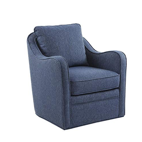 Most Recently Released Decker Ii Fabric Swivel Glider Recliners With Regard To Upholstered Swivel Chairs: Amazon (View 14 of 20)