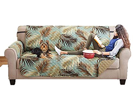 Most Recently Released Karen Sofa Chairs Intended For Amazon: Elaine Karen Deluxe Reversible Sofa Furniture Protector (View 14 of 20)