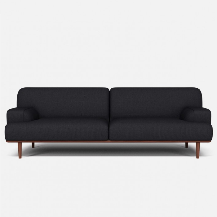 Most Recently Released London Dark Grey Sofa Chairs Throughout Madison Velvet Sofa 3 Seaters London Dark Grey – Bolia (View 9 of 20)